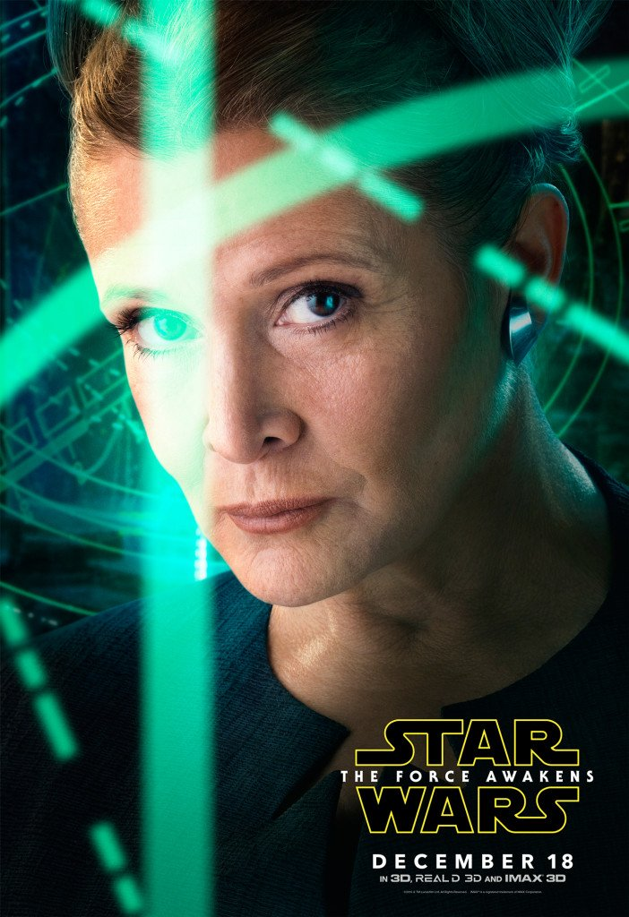 Star Wars VII The Force Awakens 45 - Character Poster Leia