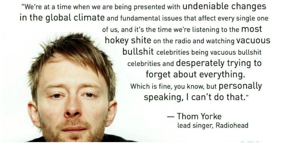 radiohead environmentalism