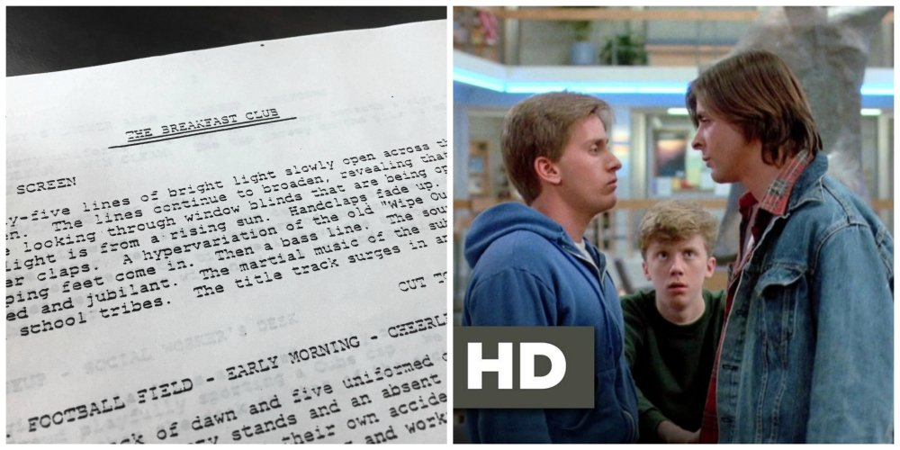 the breakfast club original script