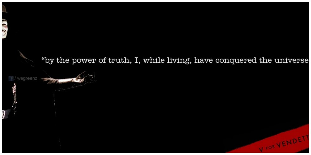 v for vendetta by the power of truth