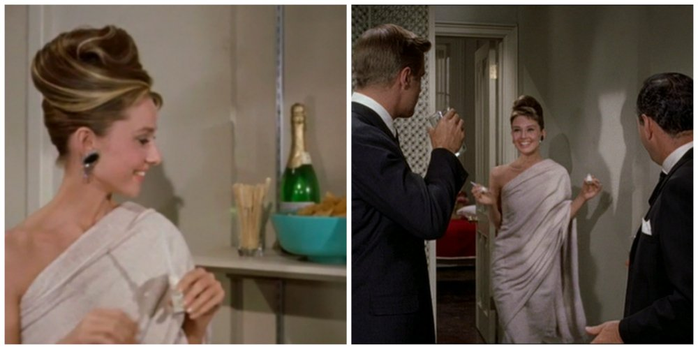 breakfast at tiffany's towel dress